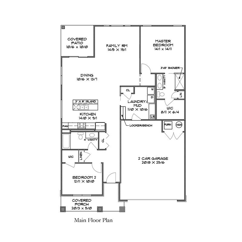 2CR EPV 2 Bed Mktg flr plan